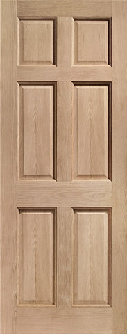 External Hardwood 6 Panel Door