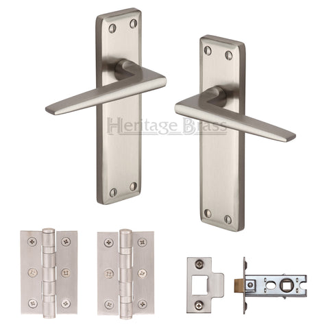 Kendal Satin Nickel Ironmongery Pack