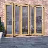Premdor Oak Bi-fold External Folding Doors