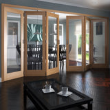 Jeldwen Shaker Oak 1 Light Internal Folding Doors