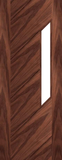 Tampa Walnut Glazed Door