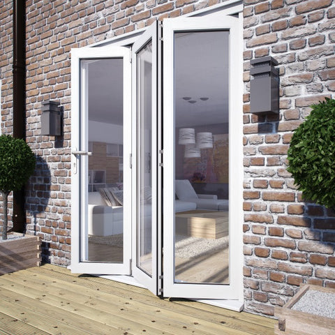 Premdor White Bi-Fold External Folding Doors