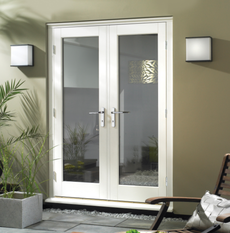 Premdor White External French Doors