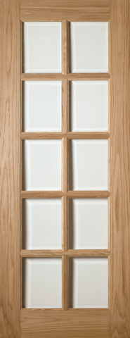 1 Panel Oak 10 Light Door