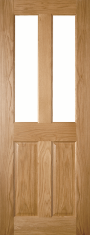 4 Panel Oak Glazed Door
