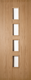 5 Panel Oak Glazed Door