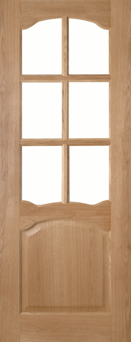 2 Panel Arch Oak Glazed Door