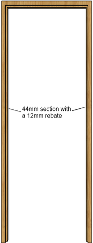 Oak Door Frame (44mm)