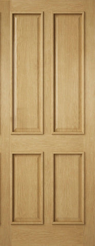 External Oak 4 Panel Door
