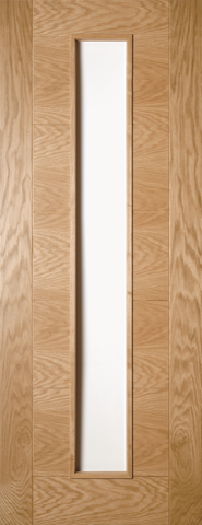 Horizontal Stiled Oak Glazed Door