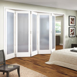 Jeldwen Shaker Primed 1 Light Internal Folding Doors