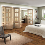 Jeldwen Shaker Oak 4 Light Internal Folding Doors