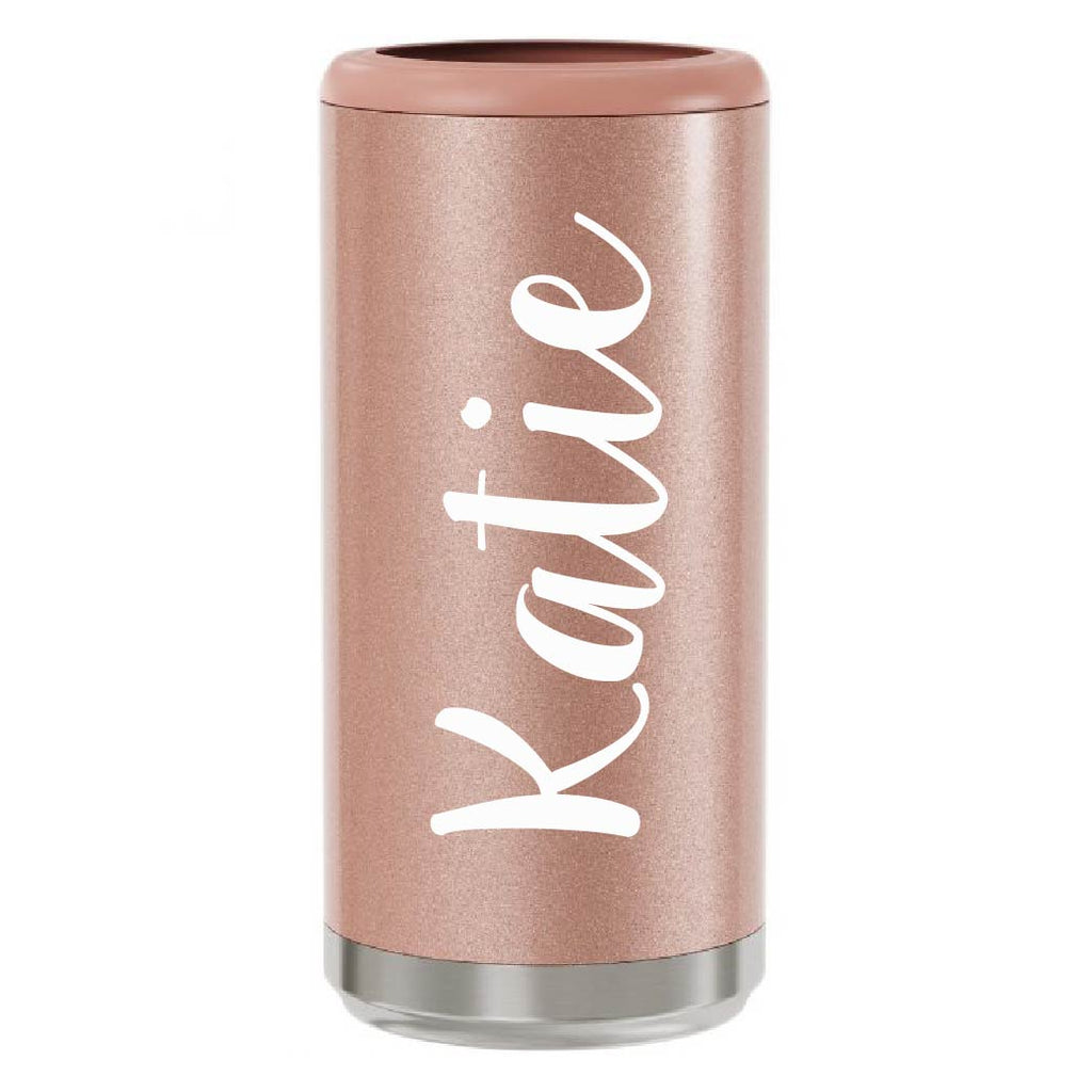 Rose Gold Skinny Can Cooler - box babe gift co.
