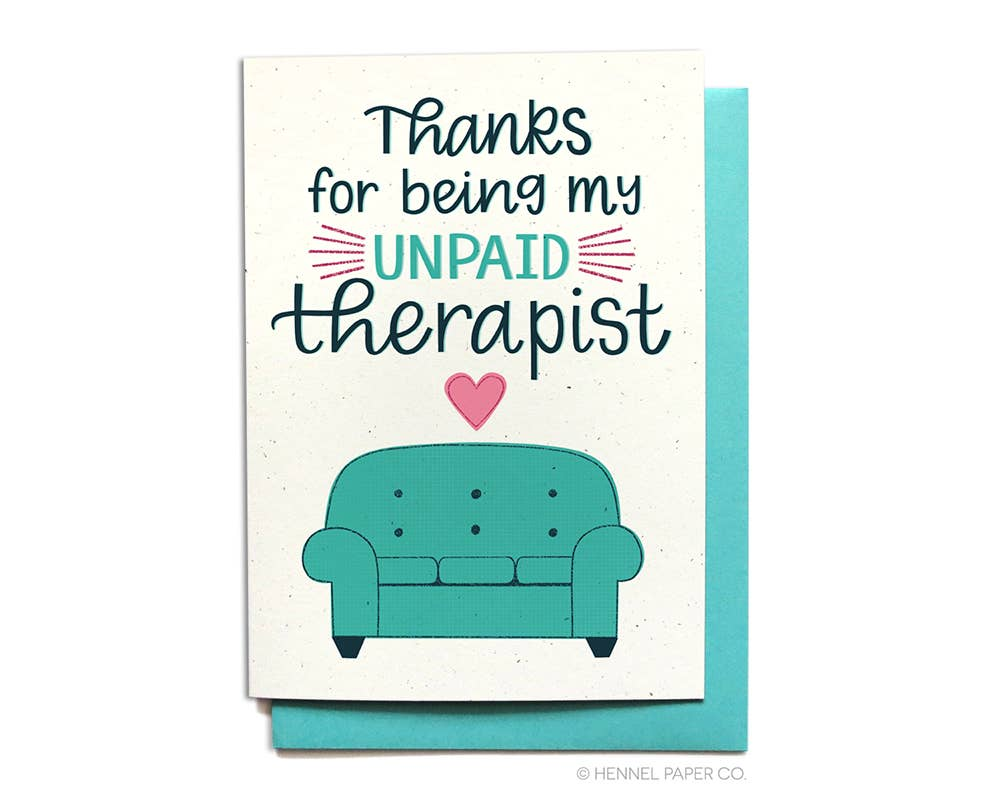 Unpaid Therapist - box babe gift co.