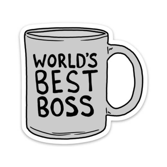 World's Best Boss Sticker - box babe gift co.