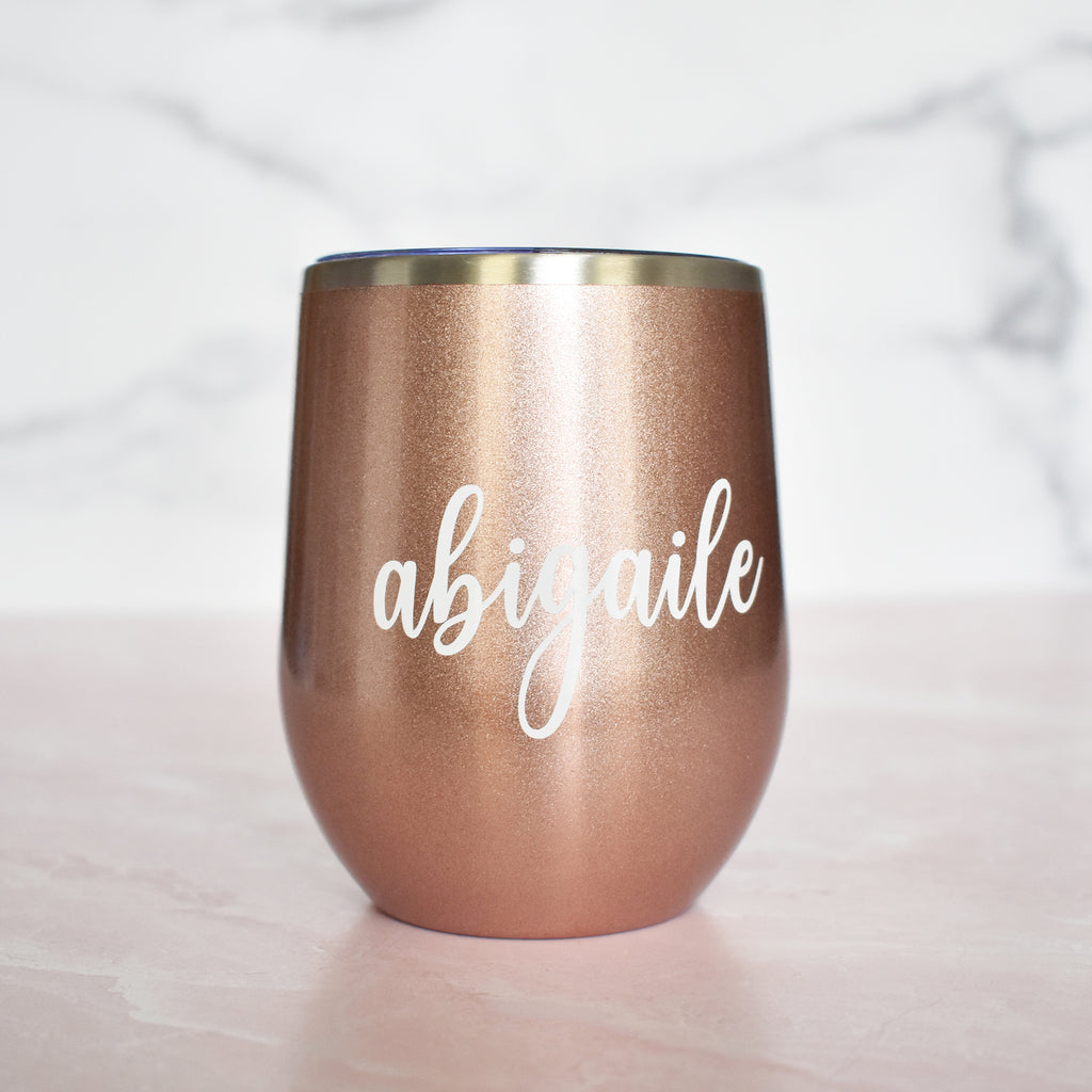 Personalized Wine Tumbler - box babe gift co.