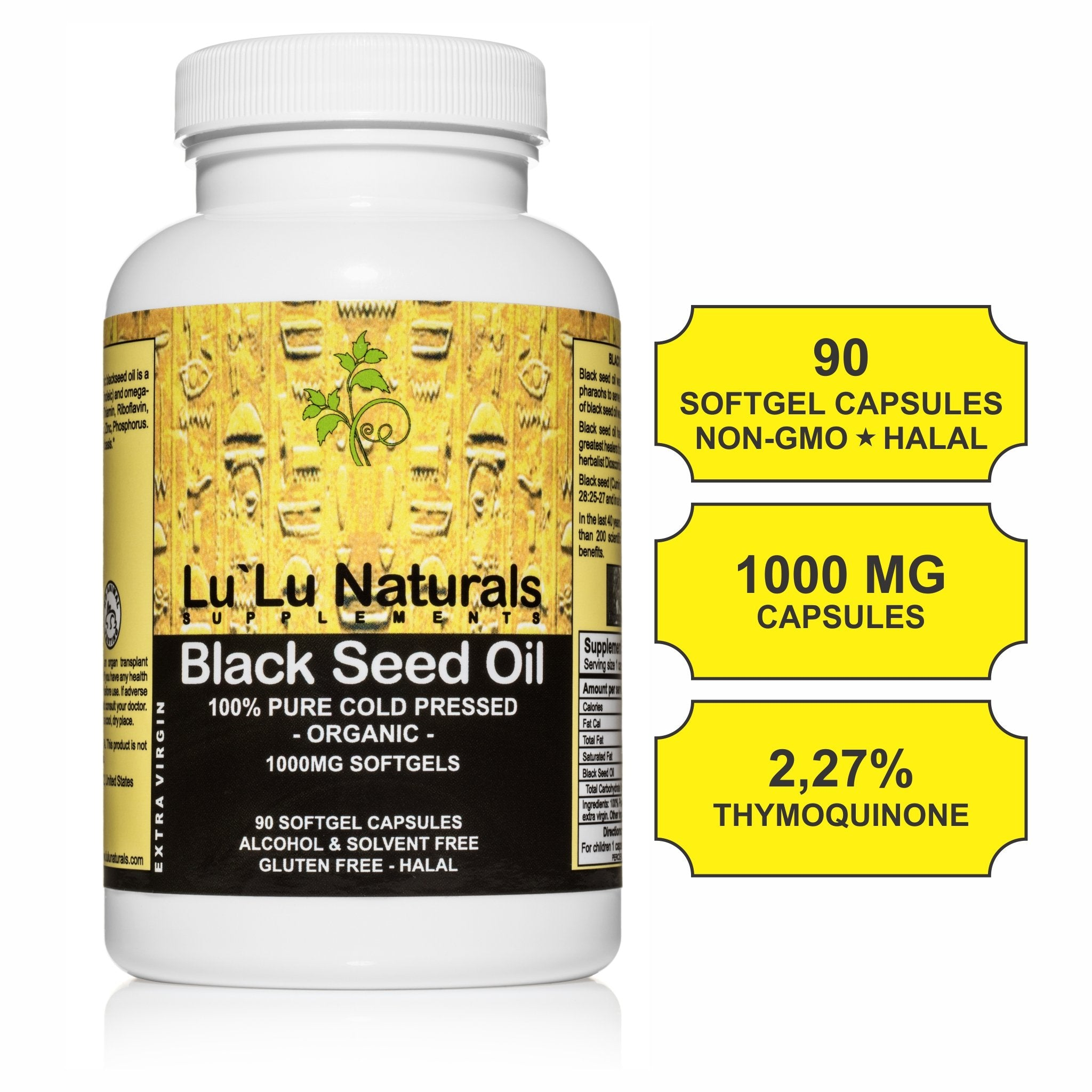 Health Benefits Premium Black Seed Oil Capsules