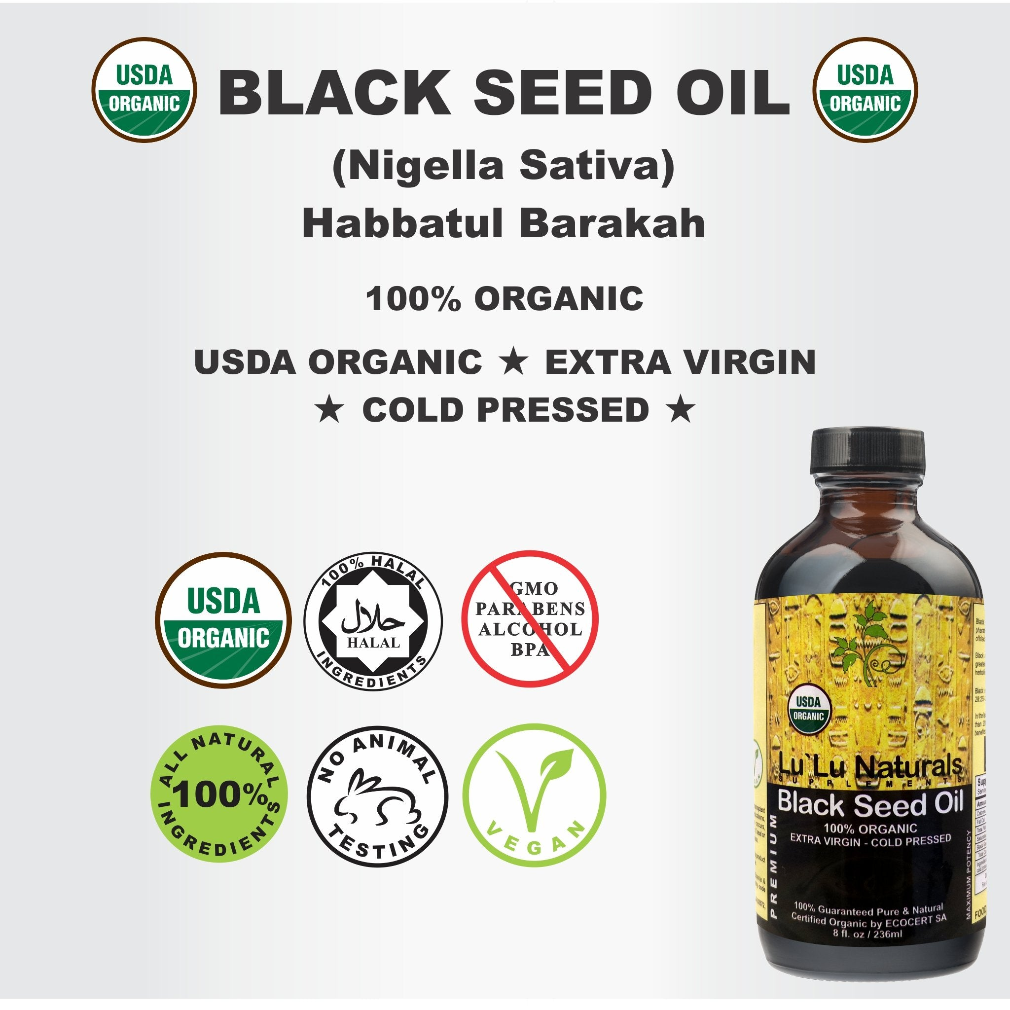 What Makes USDA Certified Organic Black Seed Oil Natural Wonder
