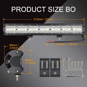 20Inch LED Light Bar NAO 420w Flood Spot Combo Beam Driving Lights Fog Light LED Work Light for Trucks Off Road Boat