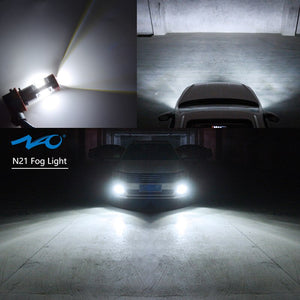 NAOEVO LED Fog Light Bulb +T10 LED Trunk Lights Bulb Kit 6000K White