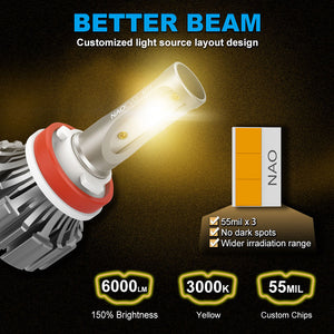 NF_H11Y-LED Headlight Bulb-Better beam