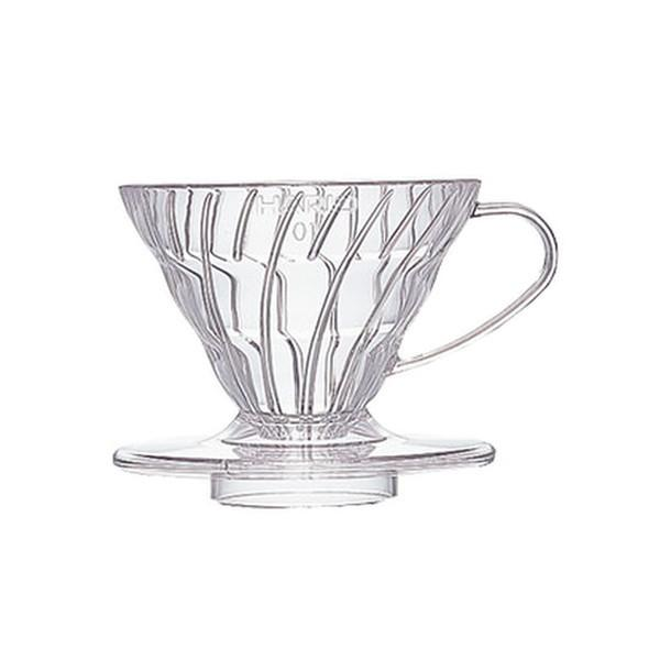 Hario V60 01/02 Coffee Dripper – Clear Plastic