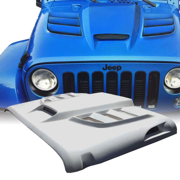 Xprite Batman Series Fiber Glass Hood for 07-18 Jeep Wrangler