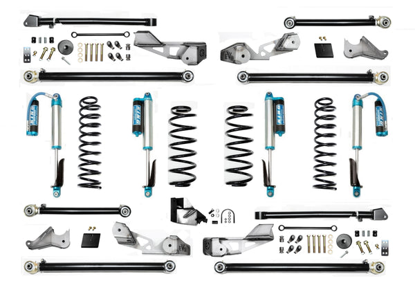 EVO MFG 3.5″ JL High Clearance Long Arm Suspension System w/ EVO Spec KING 2.5 Shocks