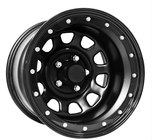 Pro Comp 252 Series Street Lock, 15x8 with 5 on 4.5 Bolt Pattern - Flat Black