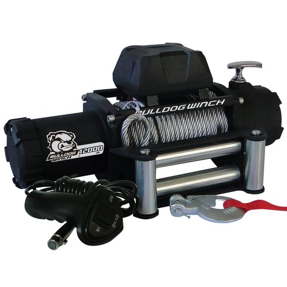 Bulldog Winch 12K Winch with Wire Rope