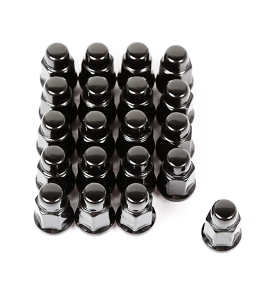 Rugged Ridge Wheel Lug Nut Set of 20 Black 1/2-20