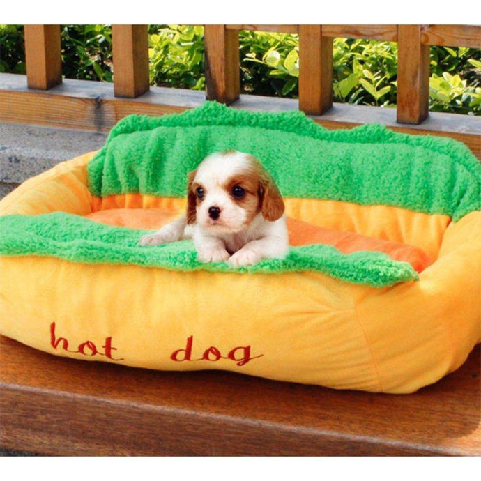 #petproducts2u 100% Cotton Hot Dog Bed For Your Puppy