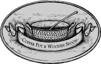 COPPER POT & WOODEN SPOON
