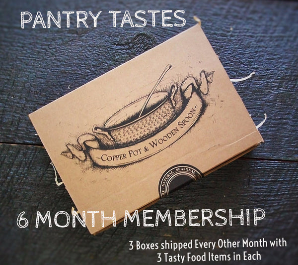PANTRY TASTES - 6 Month Membership (3 boxes - 3 items each)