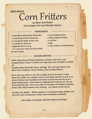 Corn Fritter Recipe Box Collection with Beer Bread Mix, Pickled Pepper Hash, and Spiced Apple & Beer Jam