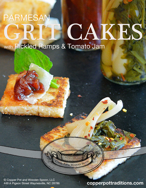 Southern Grit Recipe Collection with Pickled Ramps, Grits, and Tomato Jam