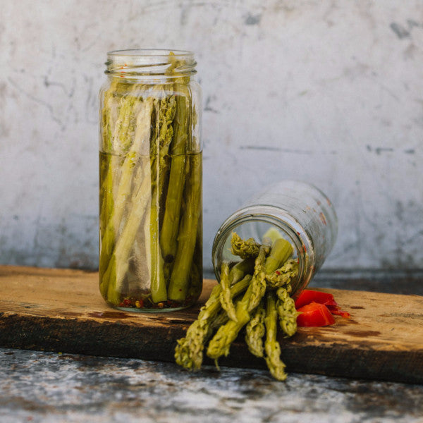 Pickled Asparagus with Wild Ramps