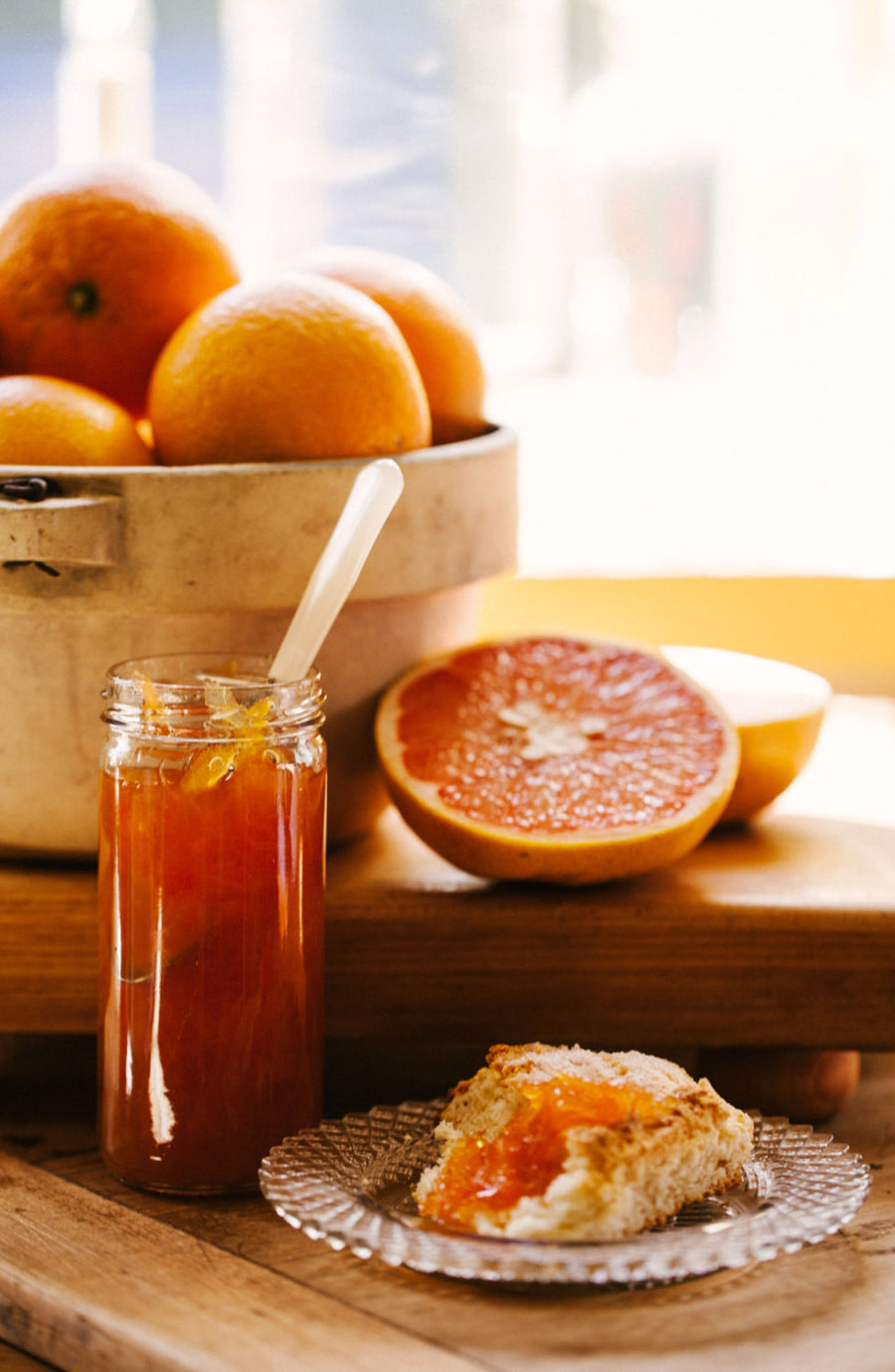 Warm & Jammy Gift Box -- Honeyed Citrus Marmalade and Almond Nutmeg Scone Mix