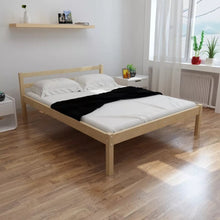 Load image into Gallery viewer, VidaXL Modern Simple Solid Pine Wood Bed With Mattress Comfortable Bedroom Bed 140 X 200cm Easy Assembly V3