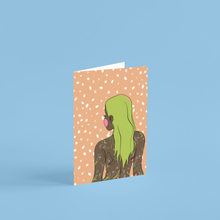 Load image into Gallery viewer, 'Goddess Orange' A6 Greetings Card
