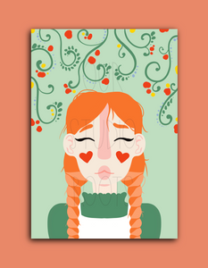 'Anne' A6 Greetings Card