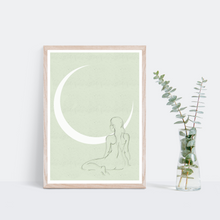 Load image into Gallery viewer, Green 'Goddess' A3 Poster Print