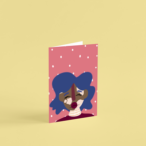 'Cher' A6 Greetings Card
