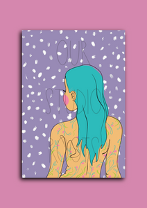 'Goddess Purple' A6 Greetings Card