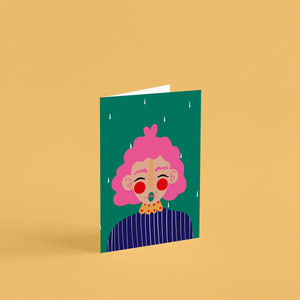 'Lola' A6 Greetings Card