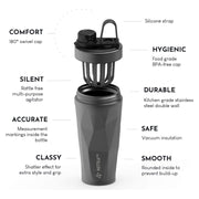 NitraPro Stainless Steel Protein Protein Shaker Bottle
