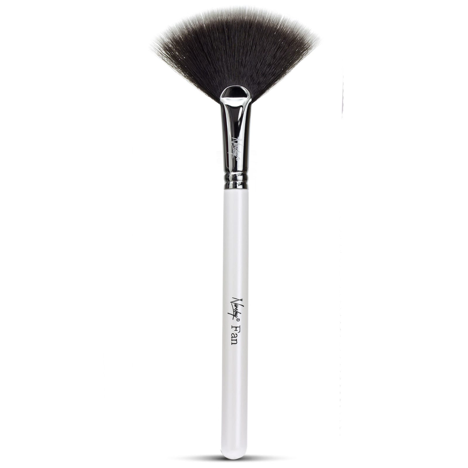 White Fan Makeup Brush