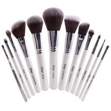 Load image into Gallery viewer, Masterful Collection Makeup Brush Set White