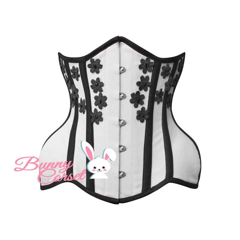 Annalise Bespoke Applique Cotton Corset