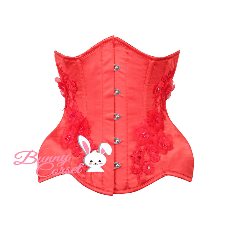 Sinclair Bespoke Red Satin Corset